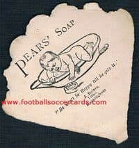 1880s Wanderers FC the 5-times F.A. CUP WINNERS a *SOCCER HISTORY MUST-HAVE*  Baines Pears Soap card
